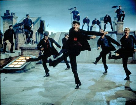 """Dick van Dyke and the Chimney Sweeps, """"Mary Poppins"""""""