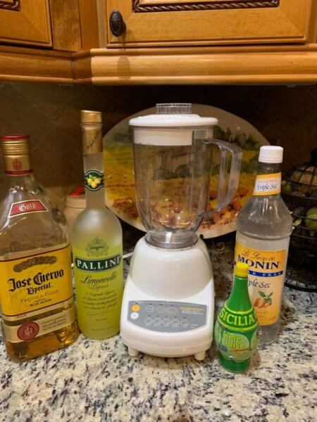 Ingredients for a Frozen Limoncello Margarita