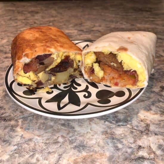Breakfast Chimichang & Burrito