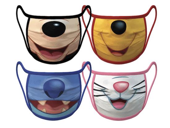 disney smiles face mask