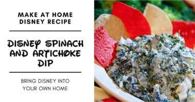 disney spinach dip