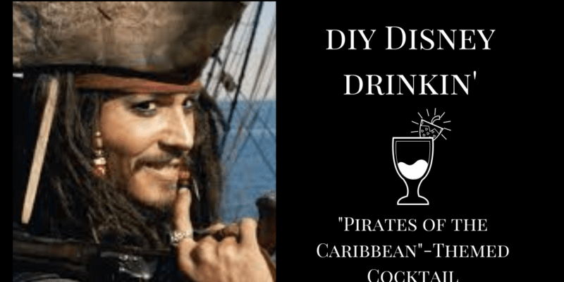 Pirates of the Caribbean themed cocktail