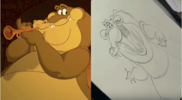 draw louis princess and the frog