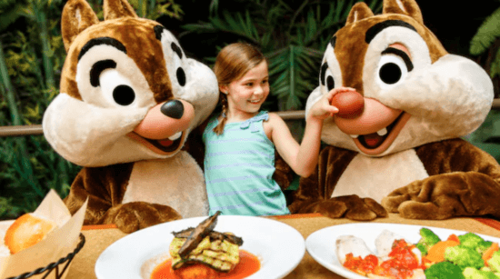 Garden Grill Restaurant - Chip and Dale meeting with child