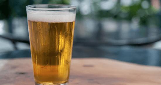 UK Beer Cart - beer in clear glass