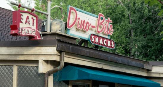 Dino Bites sign