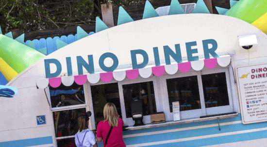 Dino Diner window