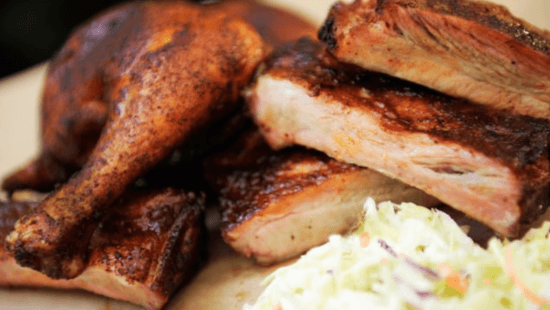 Flame Tree Barbecue - ribs and chicken