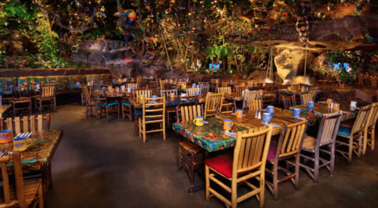 Rainforest Cafe seating area
