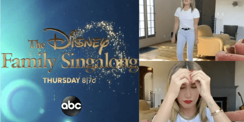disney family singalong bloopers