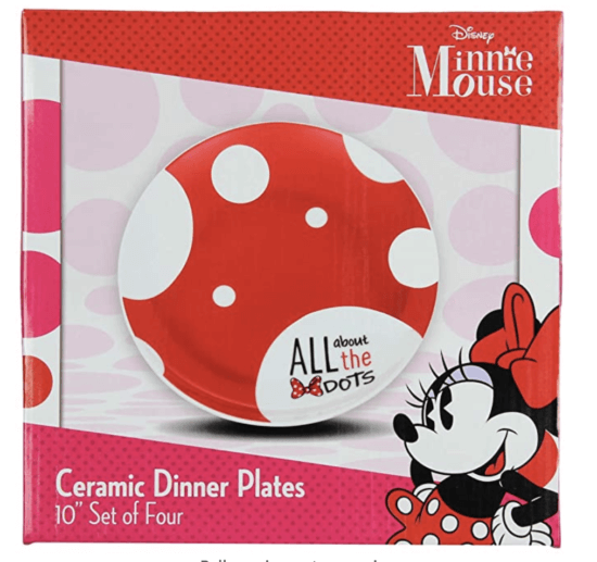 minnie dots plates package