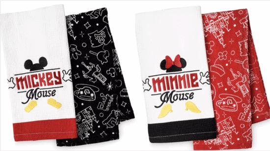 mickey and minnie dish towels