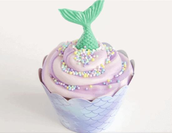 ariel inspired cupcake