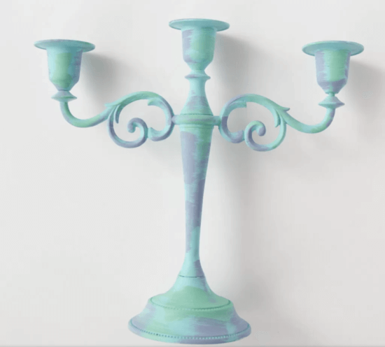 ariel candelabra teal paint
