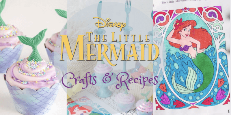 little mermaid crafts and recipes header