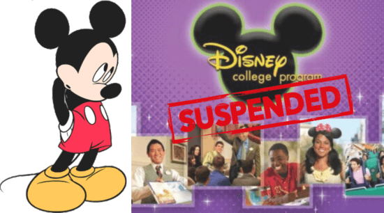 Disney College Program Suspended