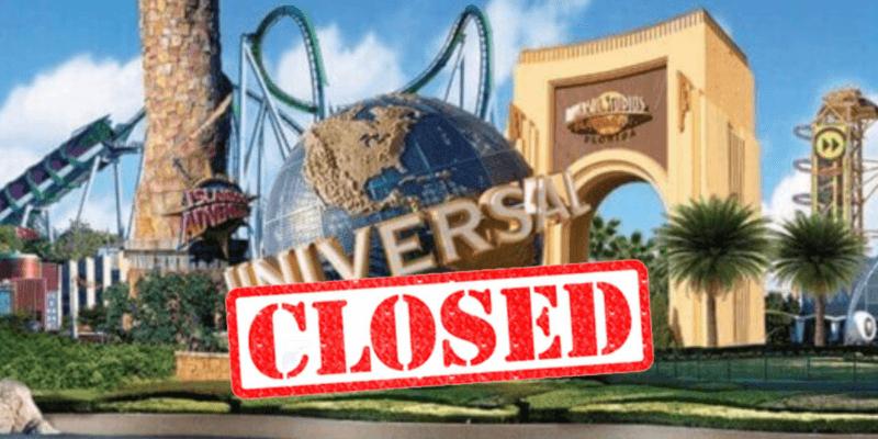 Universal closed through May 31