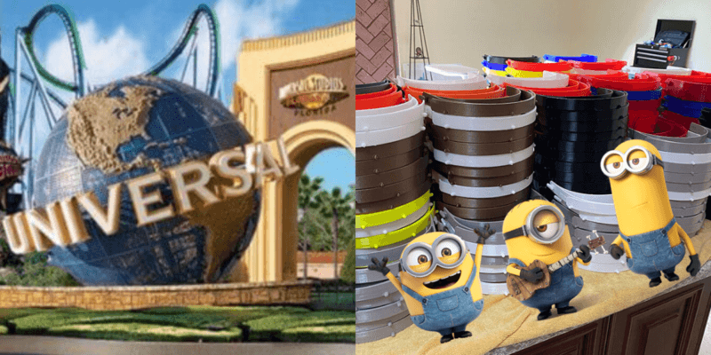 Universal Studios 3-D printing face shields