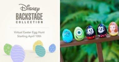 Backstage easter egg hunt