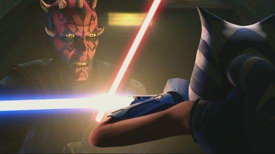 Maul battling Ahsoka Tano, Star Wars: The Clone Wars