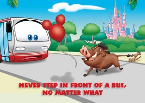 Timon and Pumbaa bus safety