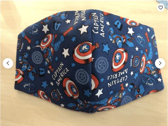 captain america face mask disney inspired