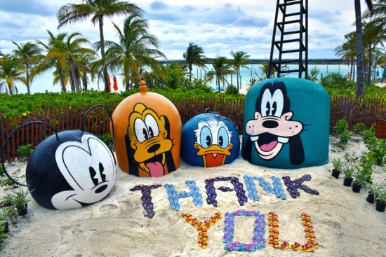 castaway cay thank you sign