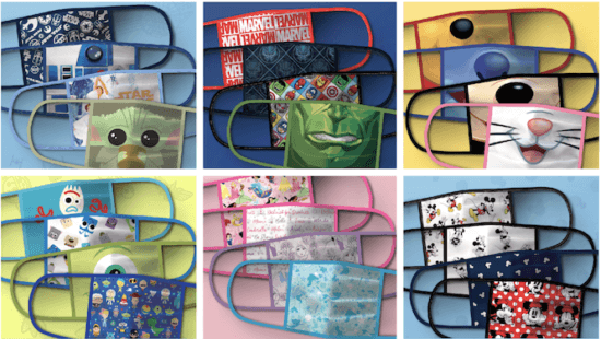 disney masks with character