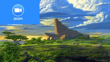 Disney zoom background