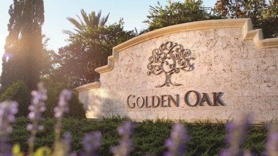 golden oak entry sign
