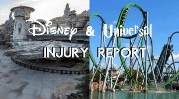 Disney and Universal Injury Report