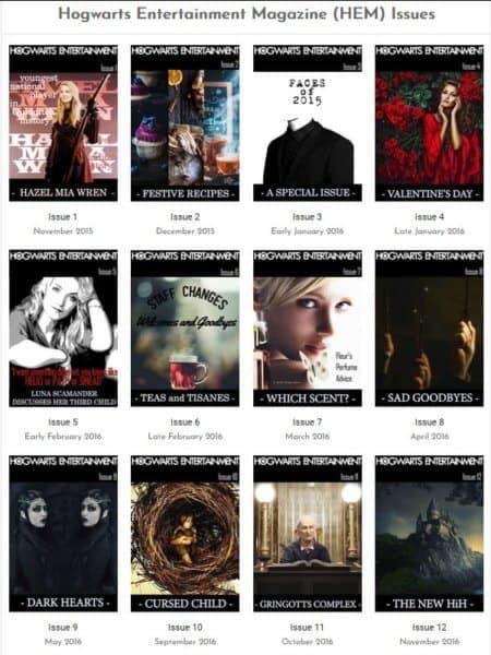Attend Hogwarts Online magazines