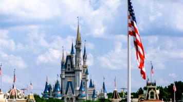 flag over magic kingdom