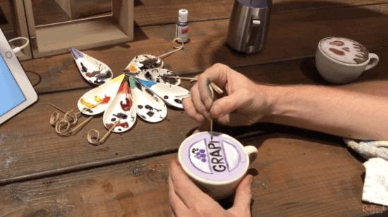 michael breach baristart making disney latte art