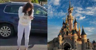 Woman in Tears Disneyland Paris