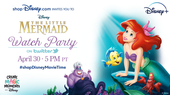 """shopDisney """"The Little Mermaid"""" watch party"""
