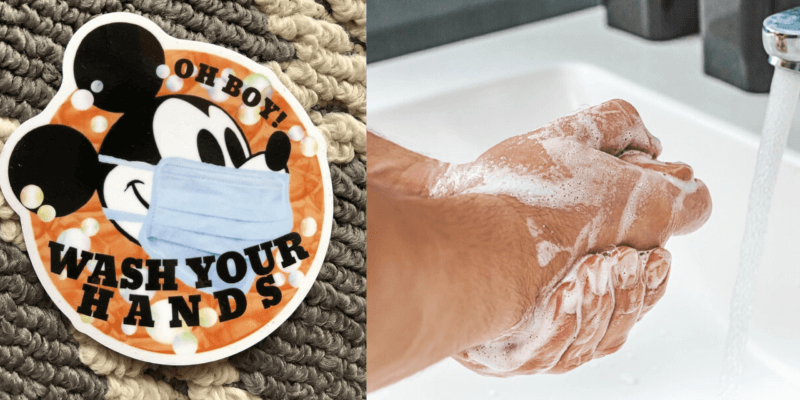 washing hands spoof passholder magnet