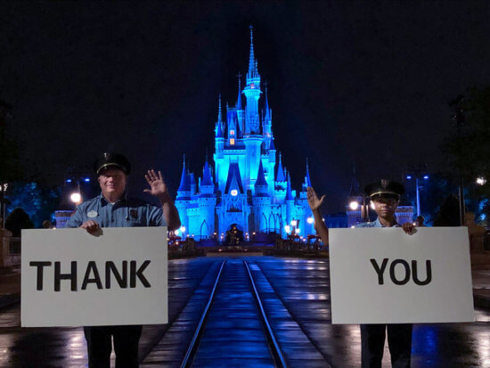A thank you to healthcare workers from Walt Disney World