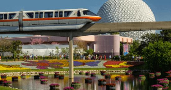 Orange Monorail Walt Disney World Resort