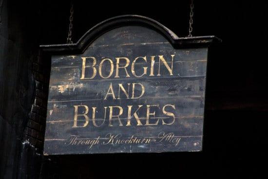 favorite experiences at Universal Studios Borgin and BUrkes