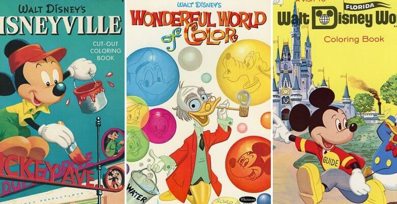 Cover photo of vintage coloring book covers.