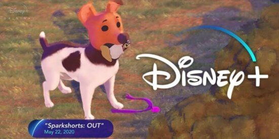 Screenshot of the dog from Pixar's Out.
