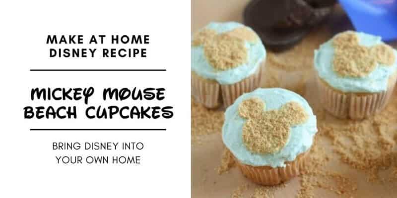 Mickey Mouse Beach Cupcake