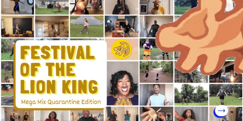 Festival of the Lion king quarantine edition video header