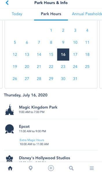 Extra Magic Hours Disney World Reopening