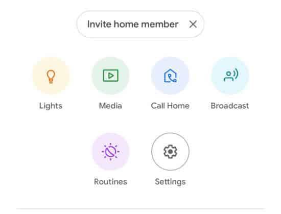 Image of Google Home App
