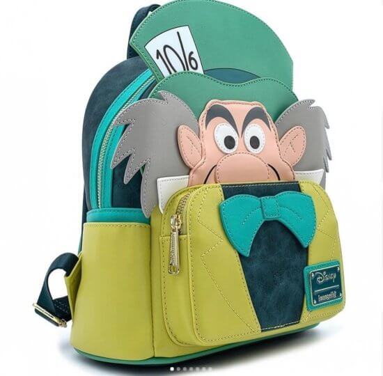 Mad Hatter Loungefly Mini Backpack Purse