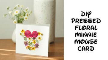 Pressed Floral Minnie Mouse Card
