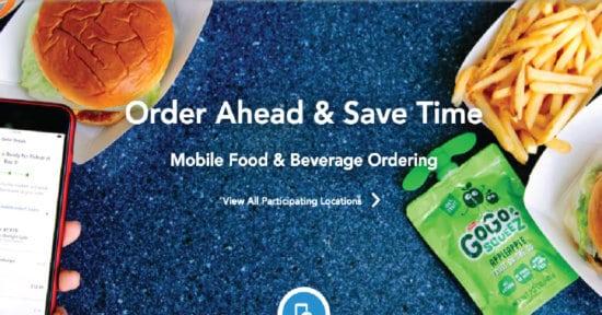 Mobile ordering image from Walt Disney World website.