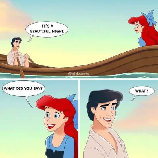 Disney Characters during quarantine boat